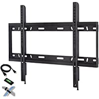 CATALYST Low Profile Fixed TV Wall Mount for 42'-90' Flat Screen TVs with 6' HDMI Cable, Cable Ties and Leveler [並行輸入品]