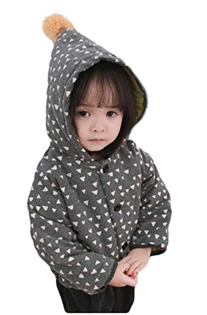 音楽家マニフェスト類推(ジャンーウェ)キッズコート ベビー ジャンパー かわいい ロングフード付き 韓国 子供服 女の子 男の子 中綿コート 防寒 ジャケット アウター かわいい キッズコート 綿入れ 1-3歳