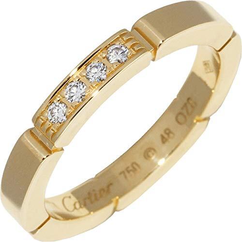 [カルティエ]Cartier K18YG ダイヤ4P(0.05ct) マイヨンパンテールリング 指輪 #48(8号) B40803 中古