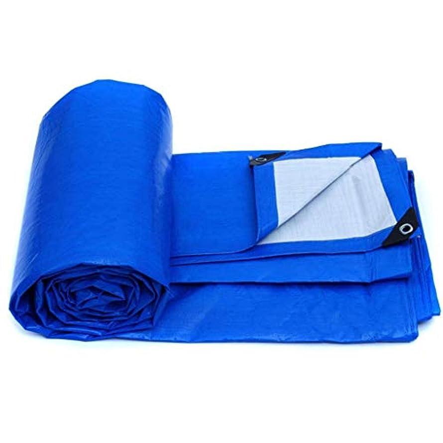 同種の結び目ボクシングターポリン ターポリン、防水頑丈なタフ、アイテムのカバーに適して、庭の装飾、屋外キャンプ、キャンプテント、マルチサイズオプション、ブルー 庭のテント (Size : 6*8M)