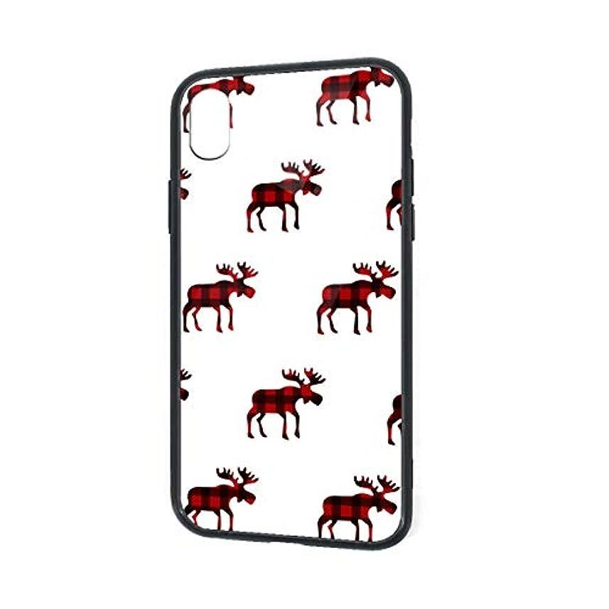 自己定説改修Reindeer Moose Red Black Christmas 電話ケース Iphone XR携帯電話ケース 傷防止 耐衝撃 衝撃吸収 カバー 耐汚れ 滑り防止 反指紋 反塵 強化ガラス+シリカゲル ユニセックス
