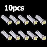 SODIAL(R)10X車T5 5050 SMDダッシュボードホワイト1 - LED電球ランプ74 37 286 18 27 12v