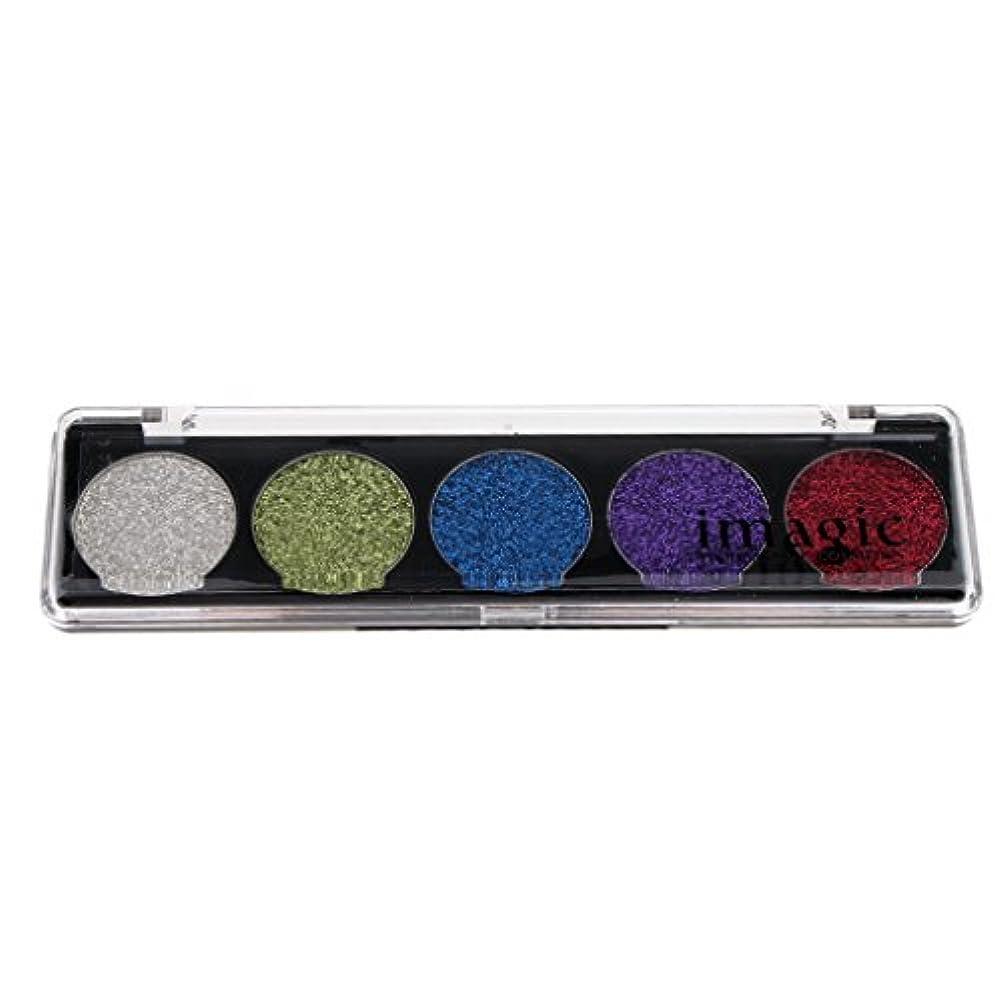司法前売スラッシュ化粧パレット アイシャドウ パレット 明るい メイクアップ 長く続き 5色 3タイプ選べる - #03