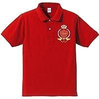 【名入れオリジナルポロシャツ】還暦祝い赤いポロ ハッピークラウン(プレゼントラッピング付)クリエイティ