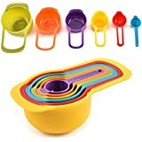 TIMEXING® Rainbow Measuring Cups with Scale 6 Sets of Milk Powder Spoon Kitchen DIY Baking