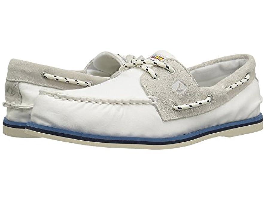 子供時代男らしさ囲い[SPERRY TOPSIDER(スペリートップサイダー)] メンズローファー?スリッポン?ボートシューズ?靴 A/O 2-Eye Nautical Canvas