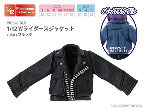 ピコニーモ用 1/12 Wライダースジャケット ブラック (ドール用)