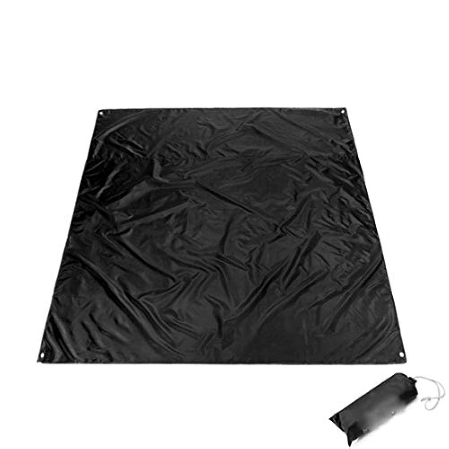 あいまいなヘッドレス氏CAFUTY 旅行やキャンプのための大規模な防水屋外ピクニックブランケット (Color : ブラック)