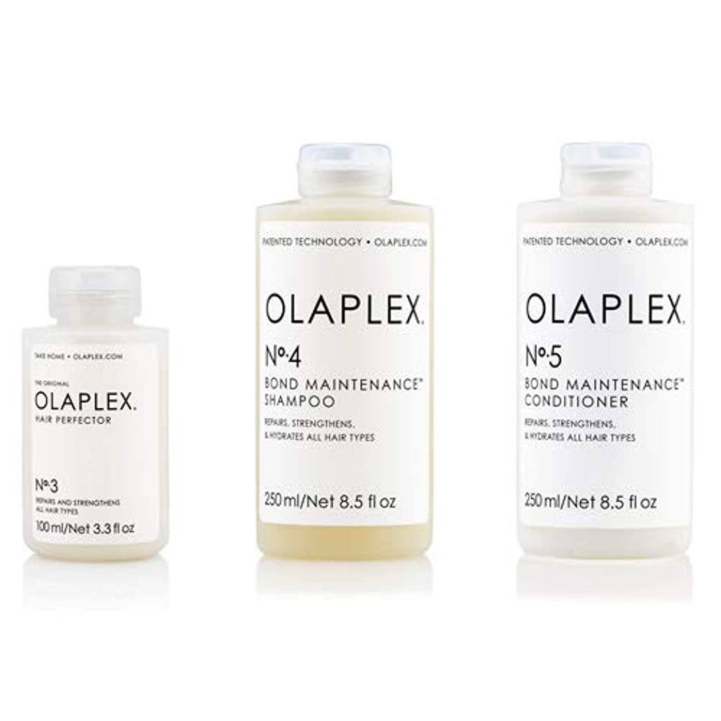 輸送精神的に動員するOlaplex オラプレックス No.3 4 5 ボンド メンテナンス シャンプー&コンディショナー&ヘアパーフェクター Olaplex Bond Maintenance Shampoo & Conditioner &...