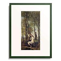 ジャン=バティスト・カミーユ・コロー Jean-Baptiste Camille Corot 「Young woman at her toilet.」 額装アート作品