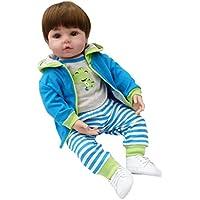 FLAMEER 工芸品 衣服付き シリコン 19インチリボーンドール 赤ちゃん人形 新生児人形