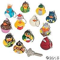 Vinyl Rubber Ducky Key Chain Collection - 12 pcs [並行輸入品]