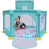 BSNOWF-ベビーサークル ベビークローリングフェンス折りたたみ式幼児の赤ちゃんの再生ペンポータブルチャイルドシートPlayセンターヤード屋内屋外 (色 : Green)