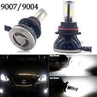 FidgetGear LED 80W 8000LM 6000K白色LEDキットヘッドライトデュアルビームハイ/ロー - 9007 HB 5 9004 W 5
