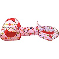 ABSTEPS おもちゃのテント - 子供のテント 折りたたみ式 プールチューブ 3ピース ポップアッププレイテント 子供用 プレイハウス 屋内 屋外 トンネル 赤ちゃん用おもちゃ 1ピース