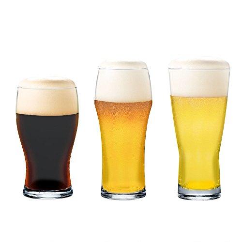 ビールグラス 飲み比べビヤーグラス 3個セット (黒ビール)400ml、(7対3グラス)375ml、(ゴクッと爽快)385ml 日本製・食洗機対応 G071-T239