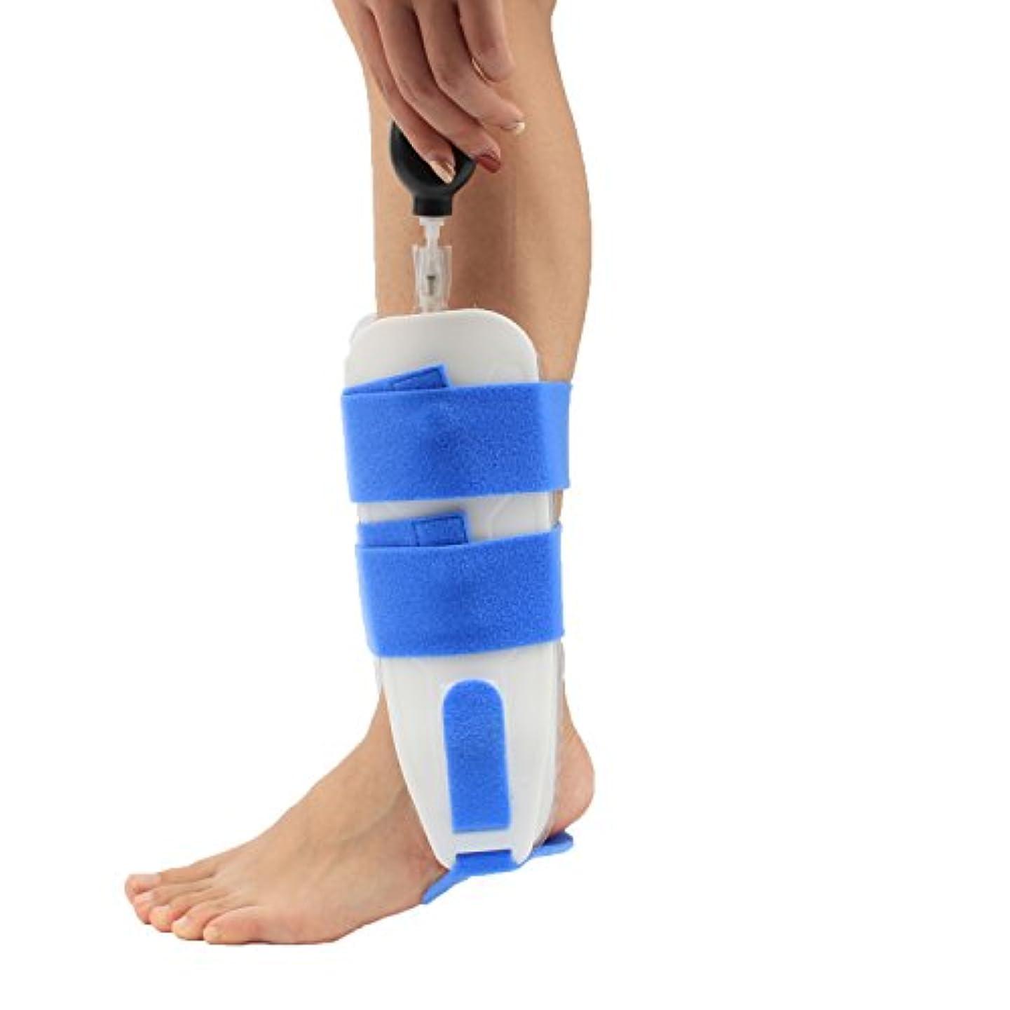 賞賛クリエイティブやりすぎ足首サポートブレースインフレータブルエアー圧縮エアクッション足首がっちり固定足スプリント/関節炎/関節痛/骨折スポーツ傷害回復 左右兼用 フリーサイズ,2Pack
