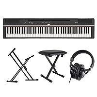 YAMAHA P-125B ブラック 電子ピアノ スタンド ベンチ ヘッドホン 4点セット [鍵盤 Cset]