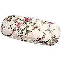 Molshine Portable Fabrics Covered Retro Hard Shell Eyeglasses Case+Glasses Cloth(Gift)-Flowers Series