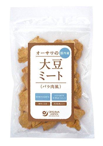 オーサワの国内産大豆ミート(バラ肉風)