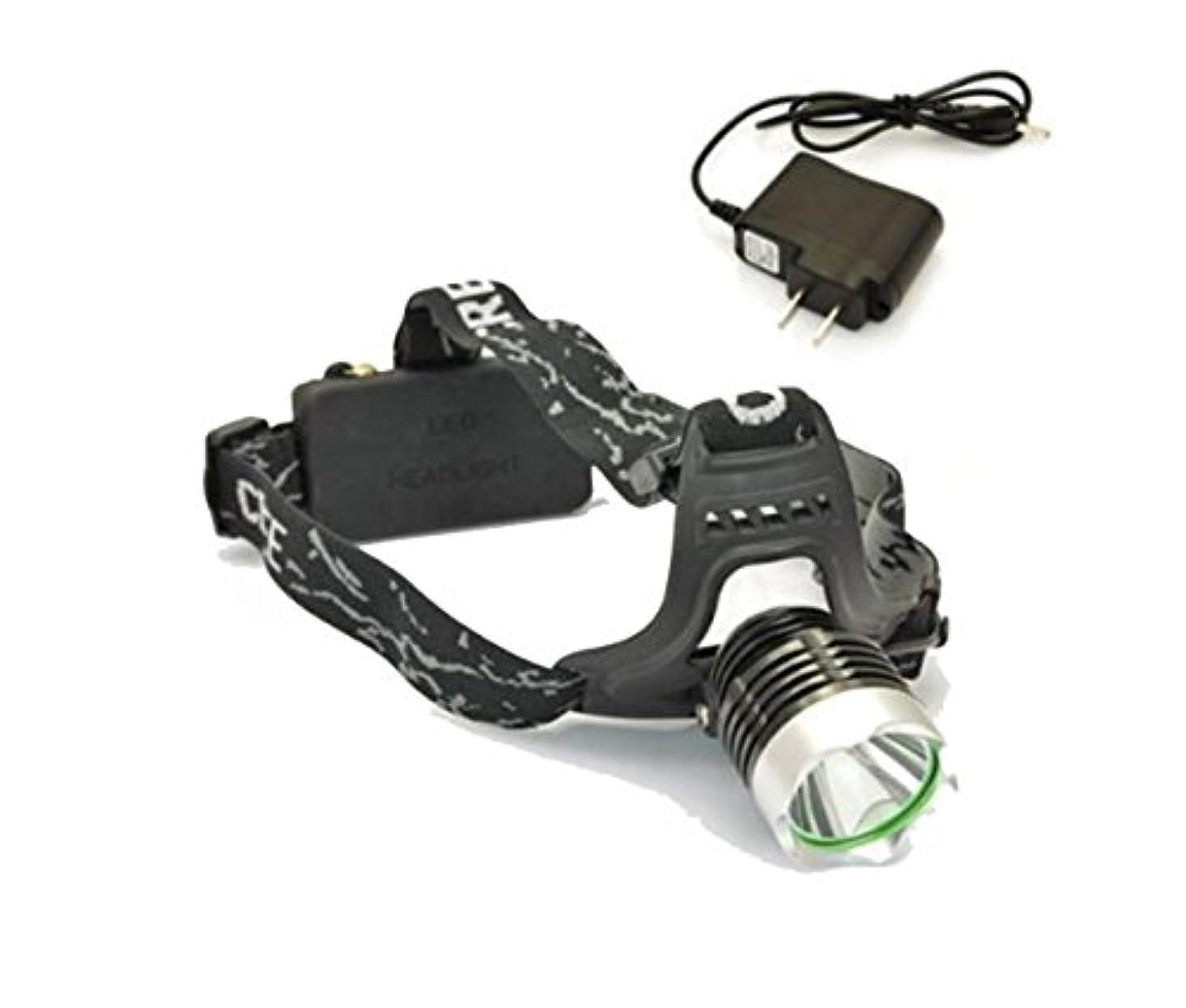 徒歩で憂慮すべき警戒DingDong 3モードLEDヘッドライトヘッドランプ、クリーXML T6ビームハンズフリー懐中電灯、調整可能なヘッドバンド付きヘッド、ヘルメット、ベルトにフィット、狩猟釣り用キャンプジョギング、防水、電源による充電