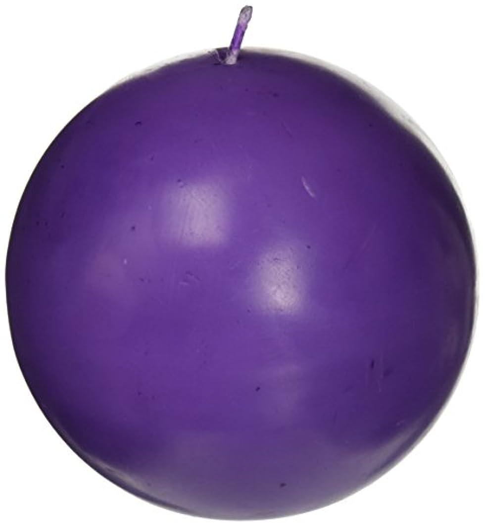 まばたきバリケード精神医学Zest Candle CBZ-034 4 in. Purple Ball Candles -2pc-Box
