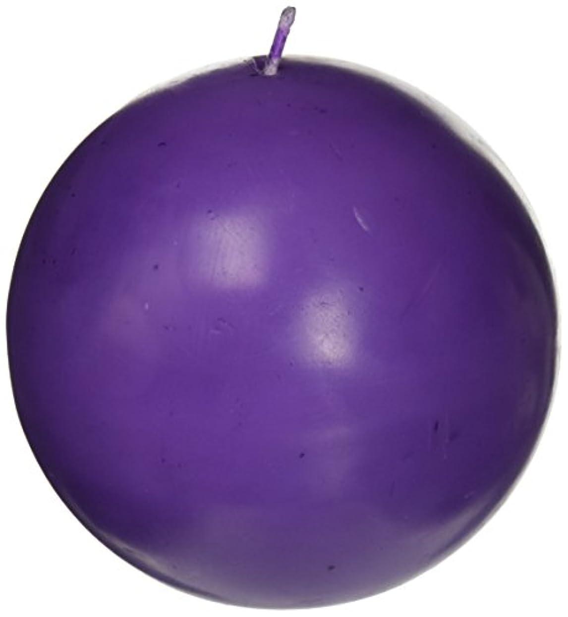 頻繁にアレルギー性夕暮れZest Candle CBZ-034 4 in. Purple Ball Candles -2pc-Box