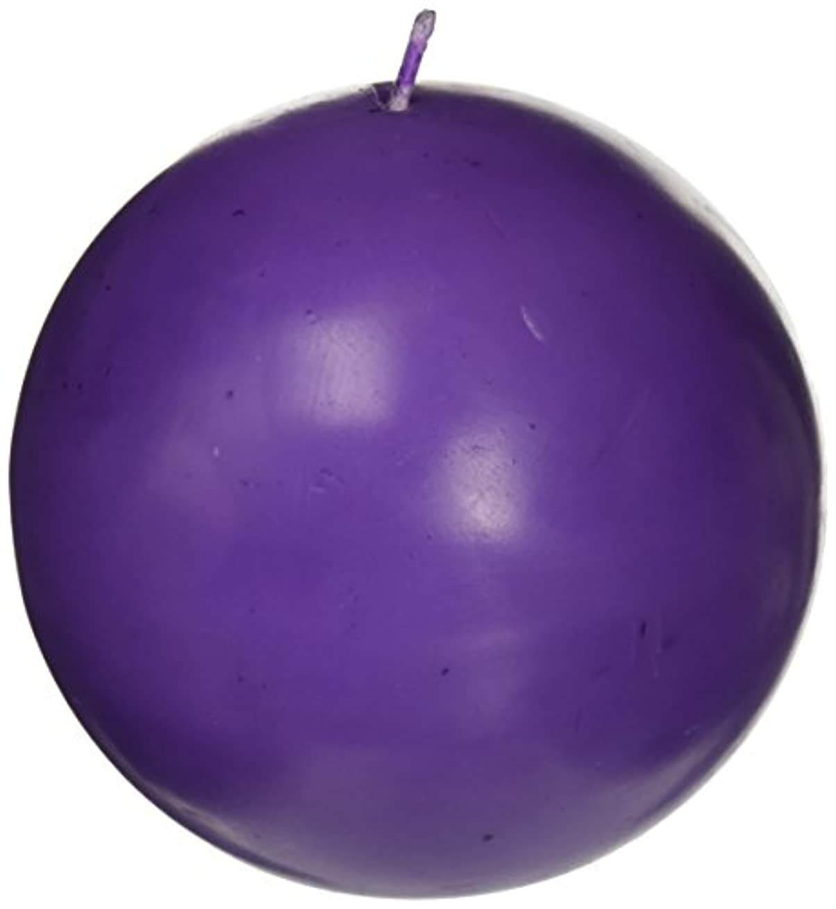 Zest Candle CBZ-034 4 in. Purple Ball Candles -2pc-Box