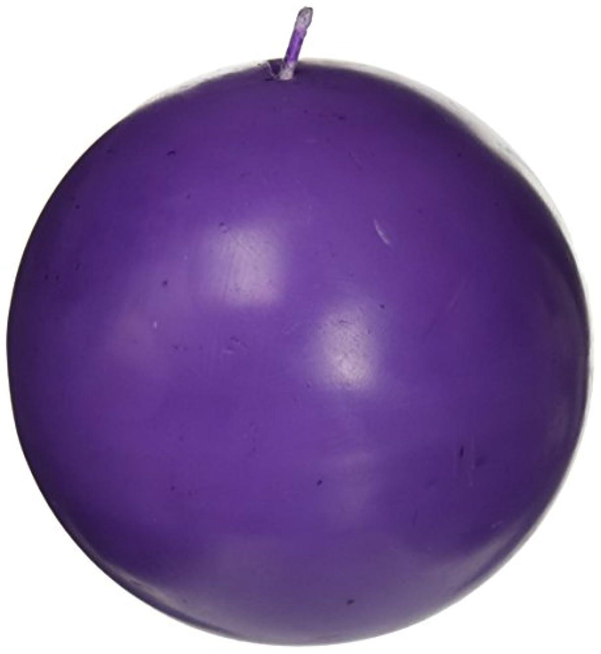 自分を引き上げる払い戻し名前を作るZest Candle CBZ-034 4 in. Purple Ball Candles -2pc-Box