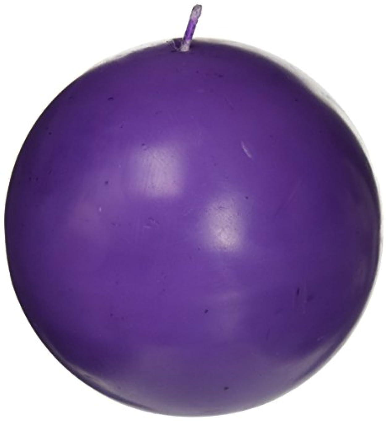 上げる繊毛ご予約Zest Candle CBZ-034 4 in. Purple Ball Candles -2pc-Box