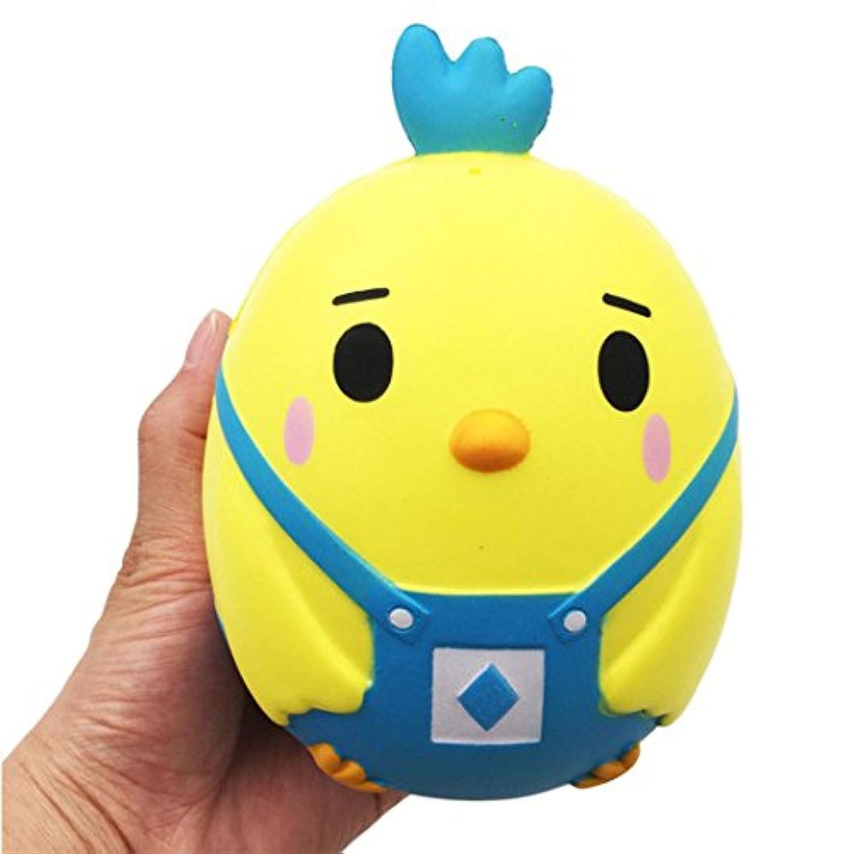 PU Toys, Sacow 15 cm イエロー チキン ゆっくり元に戻る 香り付き スクイーズ玩具 かわいい動物のベントトイ イースターギフト 15 * 11 * 10 cm ブルー