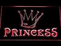 Princess Game Room Crown LED Sign LED看板 ネオンプレート サイン 標識 Display m113-r(c)