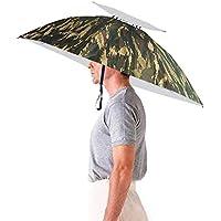 Luwint 36'' Diameter Adjustable Fishing Gardening Folding Umbrella Hat Headwear