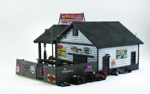 Trains Menards ~ oゲージMenards Gas Station Building