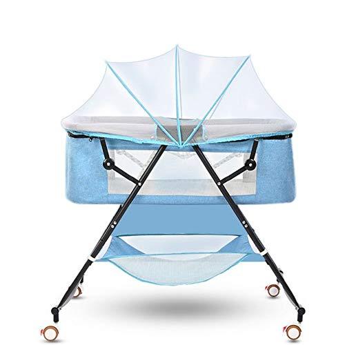 RoomClip商品情報 - DEARGENA ベビーベッド 折りたたみベッド 正規品手動 ベビーラック ハイローベッド 添い寝ベッド コンパクト軽量 通気性良い 収納便利 かや つき 新生児0ヶ月 ~ 18ヶ月