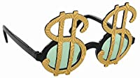 Amscan Ready Gold Dollar Sign Funshades Accessory Plastic St&Ard Size Others Party Supplies (4 Piece) [並行輸入品]