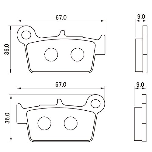 デイトナ(DAYTONA) ブレーキパッド 赤パッド リア:WR250R/YZ250F/WR450F など 79859