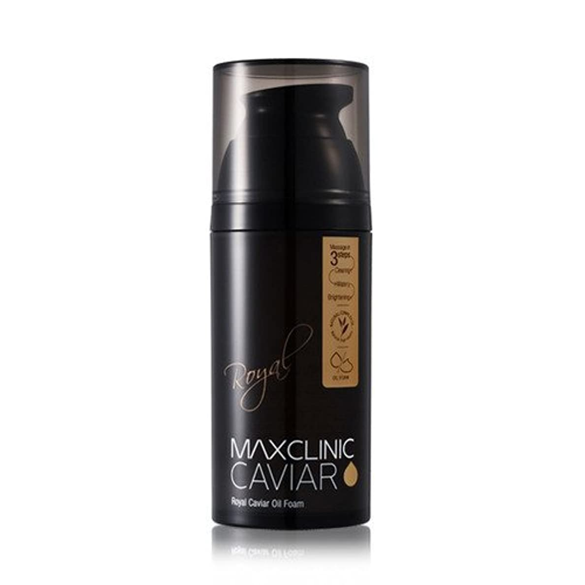 有効な誘導課すマクスクリニック(MaxClinic) ロイヤルキャビアスパオイルフォーム 110g/ MaxClinic rotal caviar spa cleanser 110g [並行輸入品]