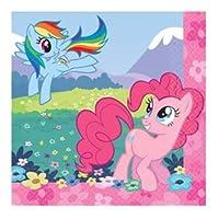 マイリトルポニー My Little Pony 16pcペーパーナプキンS amscan9243【トモダチは魔法 インポート 輸入 パーティーグッズ 紙ナプキン】【即日・翌日発送】
