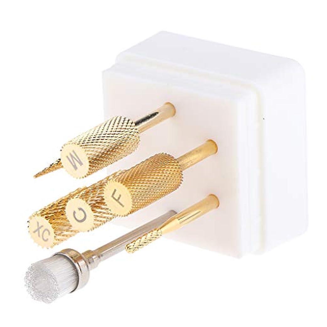 有能な駐地グリースToygogo ネイルドリルビット ネイルバレルヘッド ネイル磨く 爪磨き ネイル道具 ケース付き