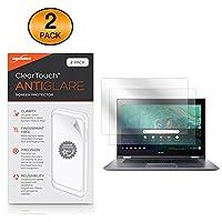 BoxWave Acer Chromebook Spin 15 (CP315) スクリーンプロテクター [ClearTouch Anti-Glare (2枚パック)] 指紋防止 マット フィルム スキン Acer Chromebook Spin 15用 (CP315)