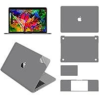 LENTION 全面保護シルバースキンシール 液晶保護フィルム 5点セット 3M技術4H硬度 (NEW 13インチMacBook Pro 2016/2017用)
