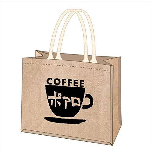 名探偵コナン 喫茶ポアロシリーズ ジュートコットンミニトート カップロゴ