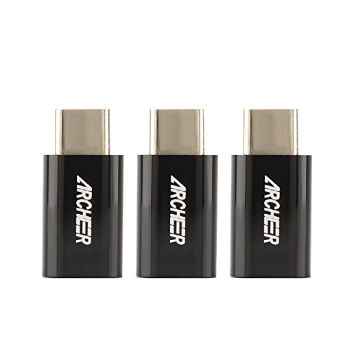 「3個セット」Archeer USB-C & Micro USB アダプタ (Micro USB → USB-C変換アダプタ / 56Kレジスタ使用 / Quick Charge対応) 新しいMacBook、ChromeBook Pixel、Nexus 5X、 Nexus 6P、OnePlus 2 、LG G5、Lumia 950XL他対応