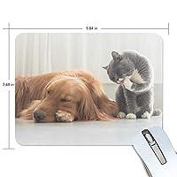 Jiemeil マウスパッド 高級感 おしゃれ 滑り止め PC かっこいい かわいい プレゼント ラップトップ MacBook pro/DELL/HP/SAMSUNG などに 動物 犬 猫 可愛い