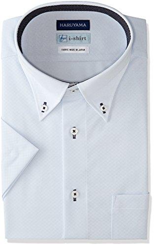 (はるやま) HARUYAMA i-shirt 完全ノーアイロン 半袖 ボタンダウンアイシャツ M162180011 81 サックス M(首回り39cm)