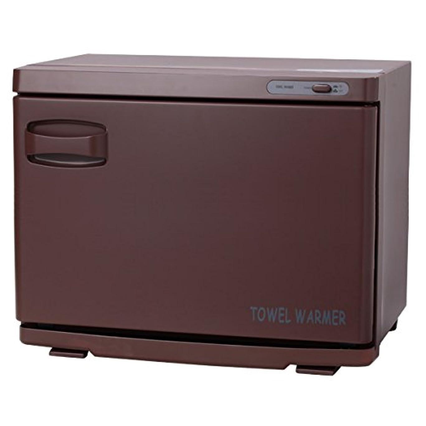 混乱したずんぐりした装置タオルウォーマー ブラウン ( 前開き ) 18L 業務用 タオル蒸し器 おしぼり蒸し器 保温器