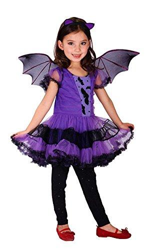 ハロウィン グッズ  halloween  ハロウィン  コウモリ 仮装衣装  コスプレ 子供用セットRuleronline (L(120-130cm))