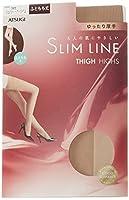 ATSUGI(アツギ) SLIM LINE (スリムライン)厚手 ふともも丈ストッキング クチゴムゆったり 〈3足セット〉 FT5550 385 シェリーベージュ 22~~25cm~
