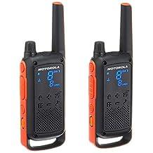 Motorola TalkAbout T82, License Free Walkie Talkie, 1 Set, Orange & Black